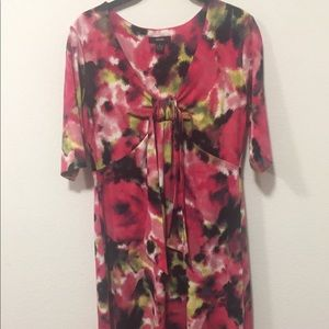 Pretty Floral Dress with Tie-Size S